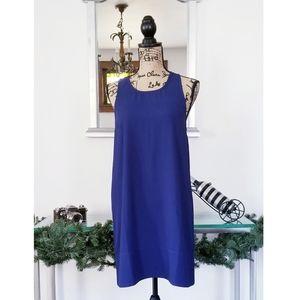 LEITH BLUE SLEEVELESS DRESS